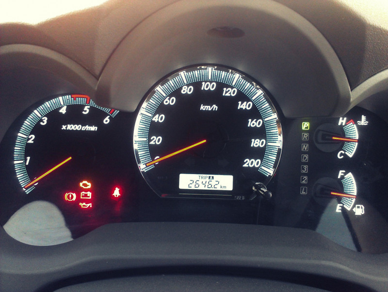 Toyota Fortuner Speedometer
